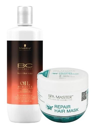 Bonacure Mucize Yağ Argan Yağlı Şampuan 1000ml + Argan Maske 500ml SET Renksiz